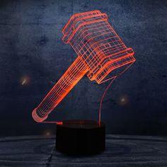 The Thor Hammer Shape 3D LED Lamp