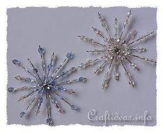 Beaded Snowflake - Blue Crystals