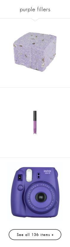 """""""purple fillers"""" by tiaranurindaa ❤ liked on Polyvore featuring beauty products, bath & body products, body cleansers, fillers, beauty, cosmetics, fillers - purple, bath bombs, magazine and makeup"""