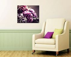 flower photography canvas wrap large wall art by TheGinghamOwl