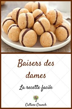 Kissing ladies: the easy recipe- Baisers des dames : la recette facile Kissing ladies cakes - Desserts With Biscuits, Mini Desserts, Arabic Sweets, Arabic Food, Vegan Recipes Easy, Sweet Recipes, Cookie Recipes, Dessert Recipes, Cakes For Women
