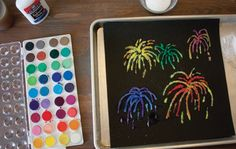 Salt Painting is a great idea for tactile art for children with visual impairments or deafblindness.