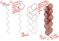 How to draw braids. Useful :)