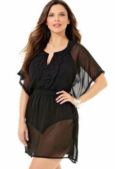 Plus Size Crochet Pullover Cover Up | Plus Size Swim SALE | Avenue