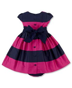 Ralph Lauren Baby Girls Dress, Printed Dress (0-24 months)