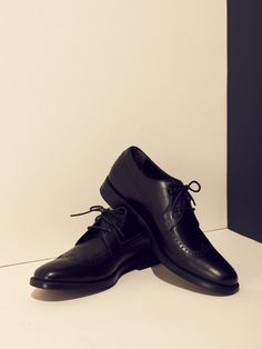 Calfskin Derby Wingtip Dress Shoes by A.Testoni on Gilt