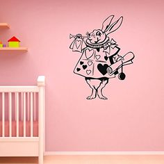 Rabbit Alice In Wonderland Wall Decal Vinyl Sticker  Children Decor Wall  Stickers  Wall Decals