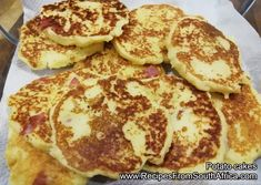Potato cakes, the best treat for any child.  My kids love it!!!  View the recipe at my site.