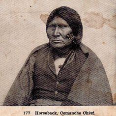 Tir-ha-ya-quahip (aka Tuh-huh-yet, aka Sore-Backed Horse, aka Horse Back, aka Nau-qua-hip, aka Champion Rider) - Nokoni Comanche - circa 1872