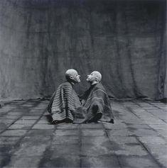 Irving Penn, Two Men in White Masks, Cuzco, Peru, 1948