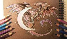 Moon dragon by AlviaAlcedo beautiful dragon