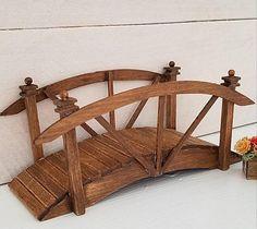 Dollhouse Miniature Bridge   Wooden Bridge   Garden Decor   Fairy Garden... from 2 Stinkin' Cute Miniatures