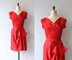 Cherchez la Femme dress vintage 1950s dress red by DearGolden