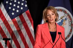 Education Secretary Betsy DeVos, who is married to the heir to the Amway marketing fortune, will donate her salary to four charities focusing on education and special needs. Houston, Florida High School, Betsy Devos, Obama Administration, Financial News, Special Needs, Civil Rights, Ny Times, Politics