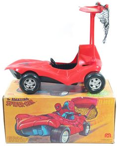 Mego Spider-man spidercar First Marvel Comic, Spiderman Classic, Toys Market, 1970s Toys, Toys In The Attic, Corgi Toys, Star Wars Toys, Comic Book Heroes, Classic Toys