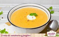 La crema de zanahoria y jengibre que preparamos hoy es un entrante sabroso y ligero para toda la familia, ideal en cualquier época del año.