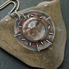 Струкова Елена - авторские украшения - Кулон с рутиловым кварцем