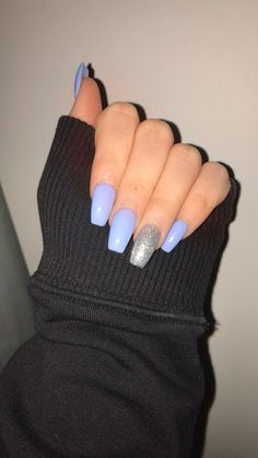 If you are looking for a new nails design to try this year, you are then in the right place. In this post, we gathered 15 new nails designs in the below gallery that will definitely make your fingerna Perfect Nails, Gorgeous Nails, Pretty Nails, Summer Acrylic Nails, Best Acrylic Nails, Blue Acrylic Nails Glitter, Simple Acrylic Nails, Spring Nails, New Nail Designs