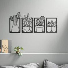 Metal Wall Sculpture, Metal Wall Art Decor, Wall Sculptures, Wire Wall Art, Contemporary Metal Wall Art, 3d Printing Diy, Laser Art, Cactus Art, Artwork Design