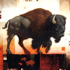 Craig Kosak Paintings - Iconic Bison