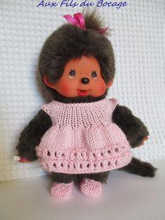 Kiki Peluche, Madame, Monkey, Crochet Hats, Deco, Etsy, Fashion, Antique Dolls, Happy