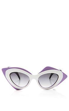 6fdeffb64f9 Shop now  Prabal Gurung Cat-Eye Acetate Sunglasses by Linda Farrow Linda  Farrow Sunglasses