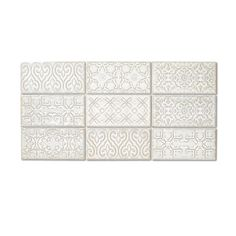 Tile Design, Box Design, Tiles Direct, White Wall Tiles, Decorative Wall Tiles, Kitchen Wall Tiles, Kitchen Backsplash, Brick Tiles, 3d Texture