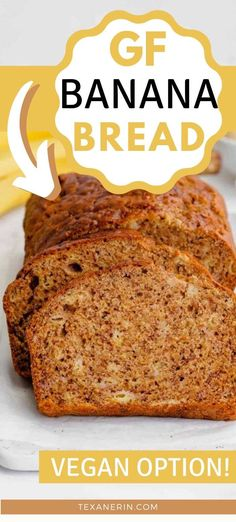 This gluten-free banana bread recipe yields a super moist, flavorful and not at all gummy loaf that is sure to please even gluten-eaters! It's also dairy-free with a vegan option and it tastes just like traditional banana bread! #bananabread #glutenfree #dairyfree #vegan Low Calorie Banana Bread, Gluten Free Banana Bread, Banana Bread Recipes, Gluten Free Baking, Gluten Free Recipes, Chocolate Banana Muffins, Baked Banana, What Can I Eat