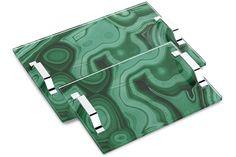 Malachite Tray - Medium. DIY with acrylic sheet, paper, and handles