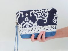 Handbag Boho bag purse Wristlets womens bag by NeedlesOfSvetlana