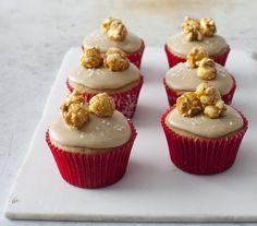 Salted Caramel Corn Cupcakes