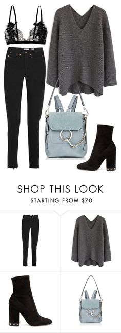 """""""Untitled #2092"""" by kellawear on Polyvore featuring RE/DONE, Chicwish, Valentino and Chloé"""