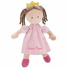 Little Princess Doll 10 inch and thousands more of the very best toys at Fat Brain Toys. She is a sweet and cuddly princess! Just the perfect size for hugging, and playing, and sleeping - Little Princess is a forever friend. Doll Toys, Baby Dolls, Personalized Baby Gifts, Baby Safe, Fabric Dolls, Toys For Girls, Doll Accessories, Little Princess, Pretty In Pink