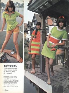"""""""Go Young in vibrant velours and joyful jerseys"""" My fashion mantra! 1960s mod Mary Quant of London minidress"""