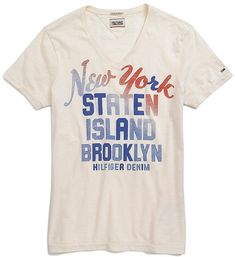 Tommy Hilfiger Brooklyn Vintage Tee in White for Men (ANTIQUE WHITE)