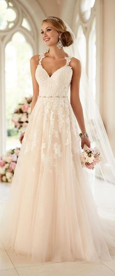 Stella York Wedding Dresses - Search our photo gallery for pictures of wedding dresses by Stella York. Find the perfect dress with recent Stella York photos. New Wedding Dresses, Designer Wedding Dresses, Wedding Attire, Bridal Dresses, Bridesmaid Dresses, Prom Dresses, Dresses 2016, Wedding Dresses With Straps, Wedding Dress Big Bust