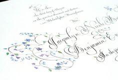 marriage certificate calligraphy - sallysanders.com