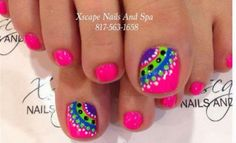 Ideas for pedicure designs toenails nailart polka dots Get Nails, Fancy Nails, Love Nails, How To Do Nails, Pretty Nails, Pretty Toes, Gel Zehen, Toenail Art Designs, Nail Designs For Toes