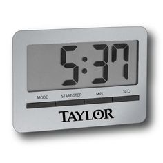 Slim Digital Timer with Clock and Alarm