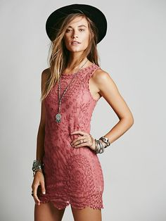 Free People Embroidered Net Shift Dress, $128.00.....love this, love free people...i want it