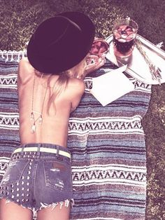Crystal necklaces, silver sweet tea trays and studded cutoffs { summer }