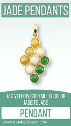 Green, yellow & white six stone pendant diagonally set in a 14K yellow gold and bail. Use discount code INSTA10JORDAN at checkout! Jade Pendant, Pendant Jewelry, Pendant Necklace, Stone Pendants, Yellow, Gold, Handmade, Etsy, Jewellery