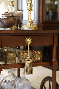 Lovely way to use tassel as part of decor.