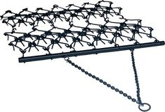 """Field Tuff's 4-ft. x 4-ft. Drag pulls easily behind an ATV, tractor or garden tractor. Heavy-duty design with 7/16"""" teeth makes simple work of leveling food plots, breaking up soil clumps or grading gravel driveways. Tow-chain style hitch with ring fits 2"""" ball. Wt: 119 lbs."""