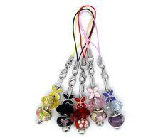 5 Mixed Handmade Cell Phone Lanyard Fit European Beads