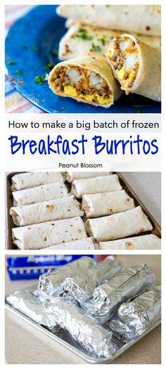 Make Ahead Breakfast Burritos, Breakfast For A Crowd, Make Ahead Meals, Perfect Breakfast, Easy Meals, Sausage Breakfast, School Breakfast, Breakfast For Camping, Best Breakfast Foods