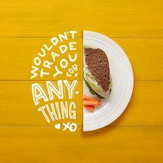 Lettering & Food, un excelente plato combinado servido desde Kansas City por el diseñador Thomas Pr Food Design, Food Graphic Design, Food Poster Design, Circle Graphic Design, Creative Ideas, Creative Typography Design, Creative Poster Design, Food Typography, Typography Layout