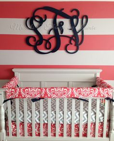 Monogram Wall Decor in the Nursery | Project Nursery