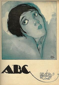 Jorge Barradas, ABC magazine, No. Ad Art, Vintage Magazines, Advertising Poster, Art Deco Fashion, Cover Art, Illustrators, Book Art, Illustration Art, Fine Art