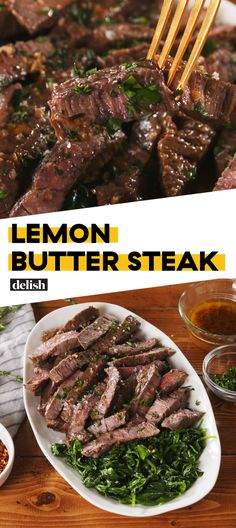 People Are Going Crazy Over This Lemon Butter SteakDelish